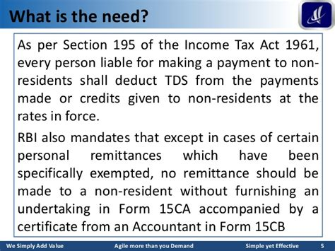 section 164 income tax act form 15ca and 15cb a complete guide