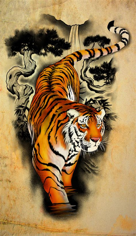 free tiger tattoo designs design tiger by badfish1111 on deviantart