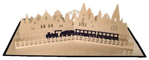svg  pop  layered card christmas train