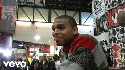 Brown Exclusive chris brown exclusive in store footage