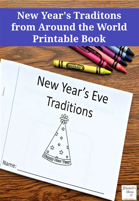 new year printable book new year s traditions around the world printable book