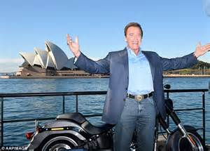 harley davidson documentary biography channel arnold schwarzenegger channels the terminator in front of