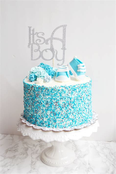 Boy Or Baby Shower Cake by A Boy Baby Shower How To Dye Your Own Sprinkles The