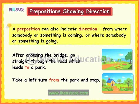 A Place Explanation Prepositions