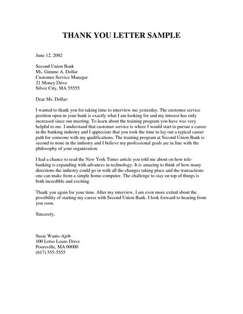 resume thank you letter format thank you letter sample 1 jobsxs com