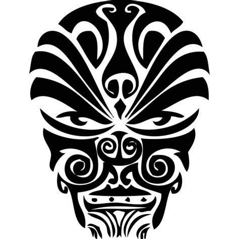 maori face tattoo designs a cool design in polynesian style
