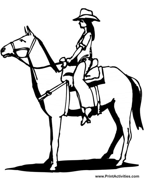 coloring pages of cowgirls and horses cowgirls and horses coloring pages and print for free