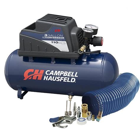 cbell hausfeld 3 gallon portable electric horizontal air compressor at lowes