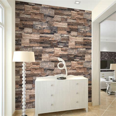 buy haokhome modern faux brick wallpaper
