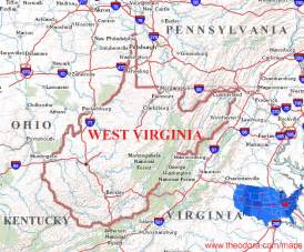 West Virginia On Map by Map Of West Virginia Related Keywords Amp Suggestions Map