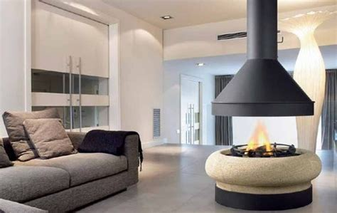 camini circolari contemporary central fireplace wood burning open hearth
