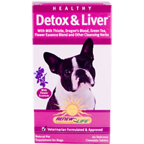 Diet Detox Symptoms In Dogs by Renew Healthy Detox Liver For Dogs 60 Delicious