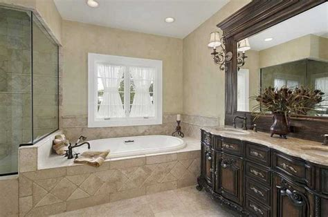 Ideas For Master Bathrooms | small master bathroom remodel ideas with classic design