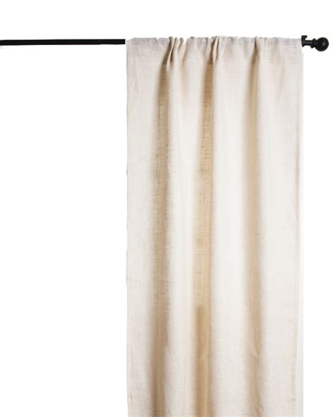 lined burlap curtains burlap lined curtain ivory transitional curtains by