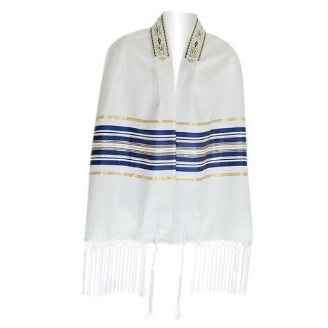 Zion Talis Tallit Blue Gold Striped Ariel Talis