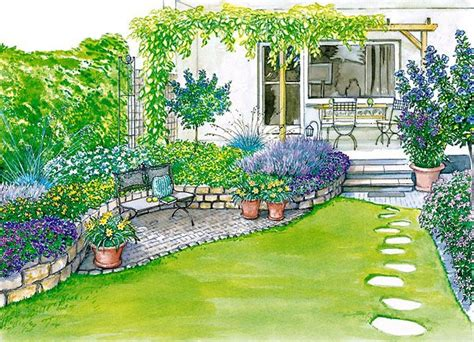 garten 100 qm ideen f 252 r einen reihenhausgarten gardens beautiful and