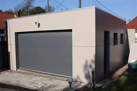 garage bois toit plat construction garage bois sur mesure devis prix