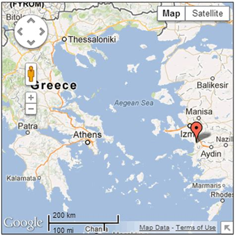 ephesus map ephesus ancient ruins turkey about kusadasi