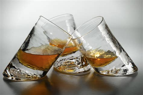 Handmade Whiskey Glasses - handmade slanted bar glass hiconsumption