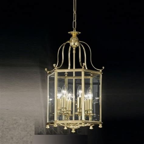 Brass Ceiling Lantern by La7006 6 Traditional Lantern Brass Ceiling Light
