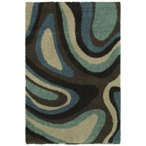 home depot rugs 10x13 mohawk home ink swirl cocoa 10 ft x 13 ft area rug 291990 the home depot