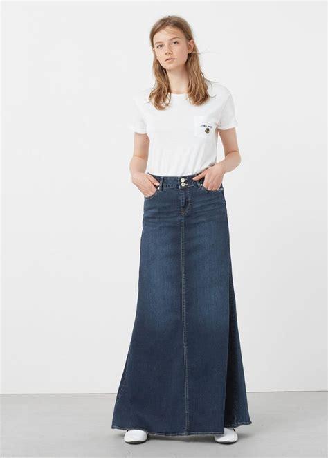 Rok Denim Maxi Skirt Naura Skirt 1000 images about denim skirts on maxi skirts skirts and zara