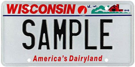 Wisconsin Vanity Plates by Wisconsin License Plates