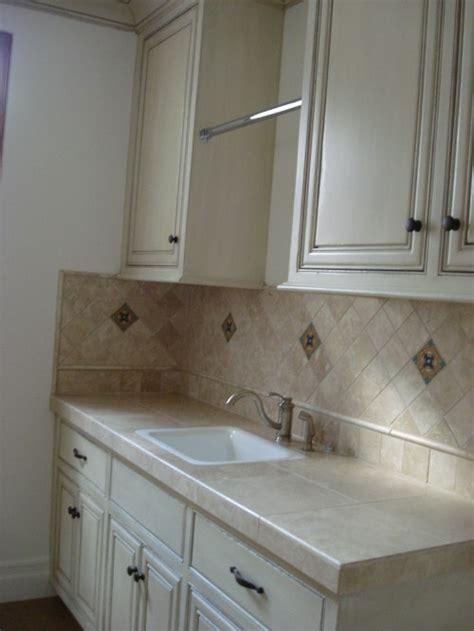 counter and backsplash utility room