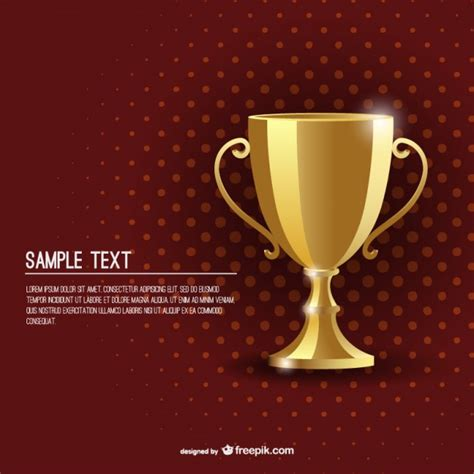 Resume Sample Awards Section by Award Golden Cup Background Template Vector Free Download