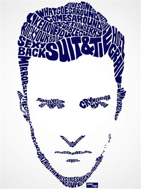 typography portrait tutorial using illustrator using song lyrics artist creates typographic portraits of