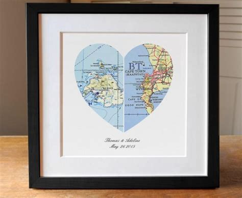Anniversary Gift, Wedding Gift, Map Art, Heart Map