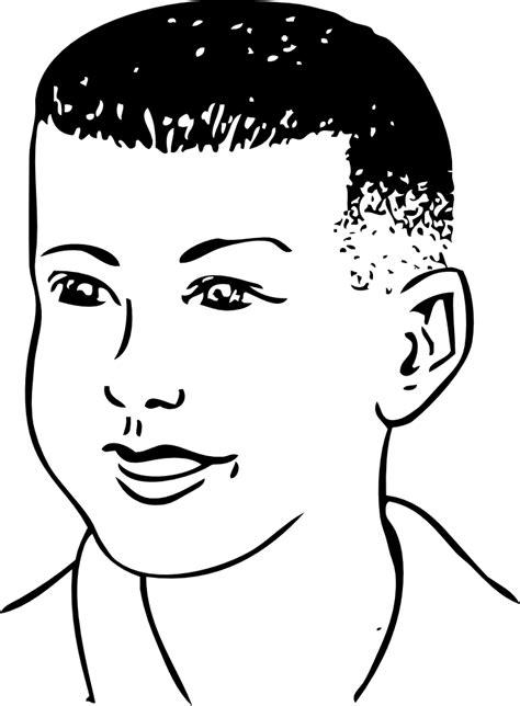 OnlineLabels Clip Art - Short Haircut Combed Forward