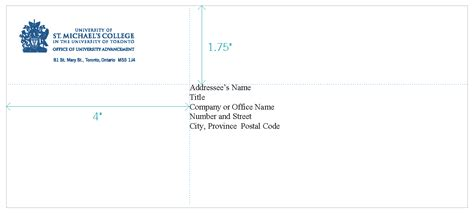 format for business envelope addressing address format