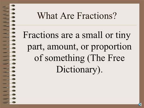 what are what are fractions