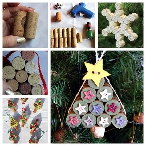 christmas ideas for wine corks the diy tree ornaments using wine corks the diy