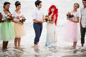 Cloud Parade shows The Little Mermaid wedding in themed shoot   Daily Mail Online