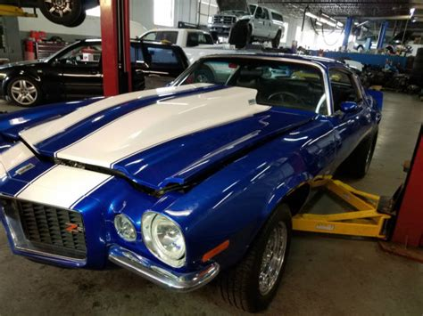 blue camaro with white stripes 1970 camaro blue with white stripes roller for sale