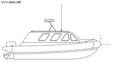 autocad drawing lifeboat rescue boat side coast guard boat - How To Draw A Boat In Cad
