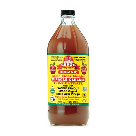 One Concentrate Detox Drink In Stores by Bragg Organic Apple Cider Vinegar Miracle Cleanse