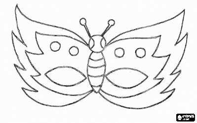 butterfly mask coloring page أقنعة للصغار pinterest