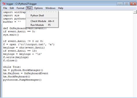 beelogger keylogger python easy underc0de the kingdom of hackerzzzz create keylogger using python 2 7
