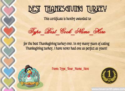 Turkey0day Thanksgiving Gift Certificate Doc Template Certificate Template Downloads Turkey Voucher Template