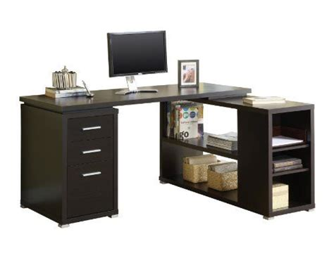 Monarch Hollow Corner Desk by Monarch Specialties Cappuccino Hollow L Shaped