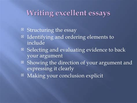 How To Write Excellent Essays by Writing Excellent Essays