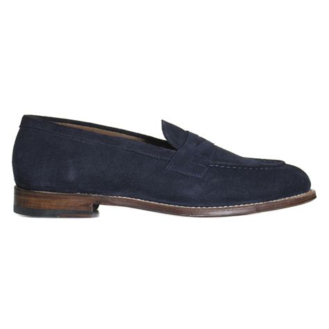 lloyd loafers grenson shoes lloyd suede loafer in navy