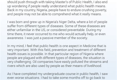 Mba Mph Australia by Check This Awesome Mph Statement Of Purpose Sle