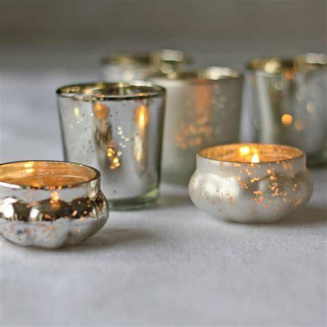 mercury tea light holders mini mercury silver tea light holder by the wedding of my