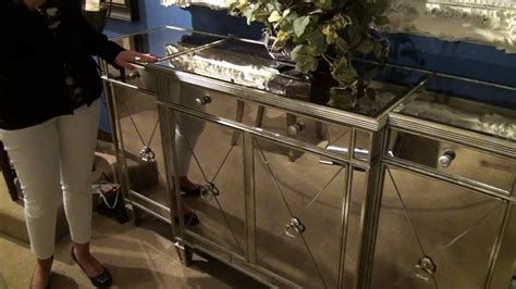 Decorating A Credenza Borghese Mirrored Buffet Server By Bassett Mirror