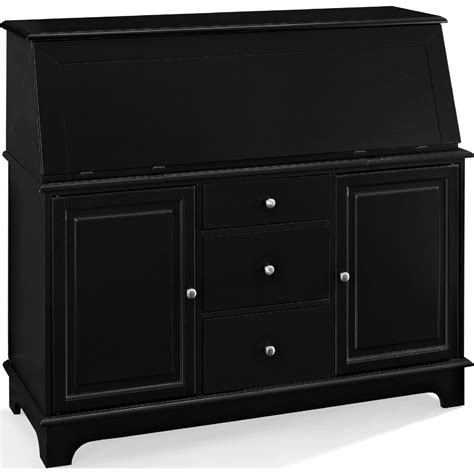 Crosley Sullivan Desk In Black by Crosley Kf65001bk Sullivan Desk In Black Finish