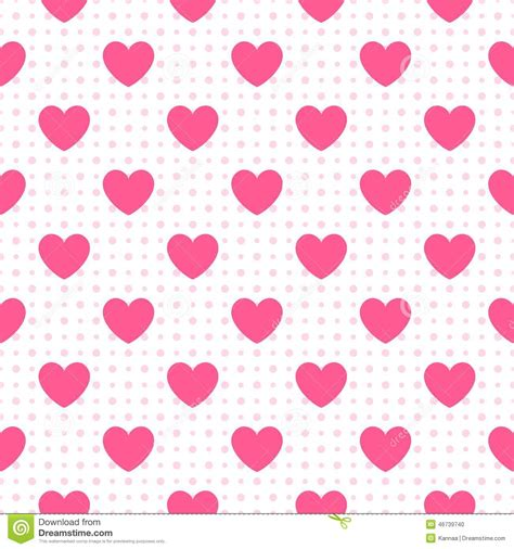 seamless heart pattern vector seamless geometric pattern with hearts vector stock